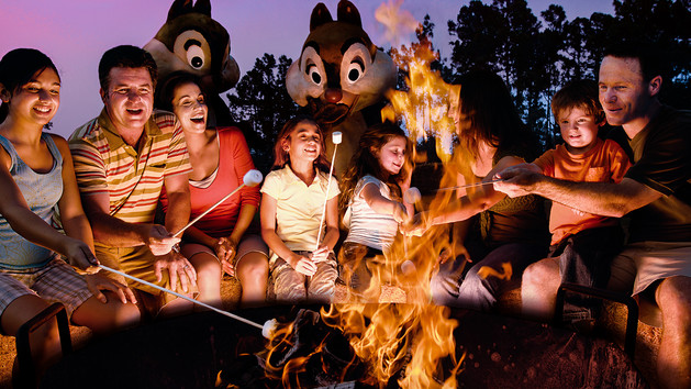 Feu de camp Chip N Dale Disney World