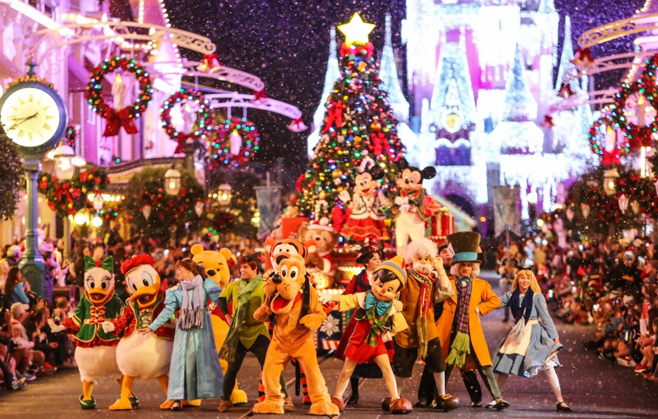 fête de noel à disney world